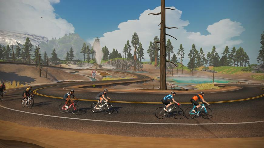 Application Zwift route