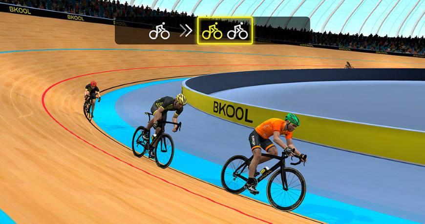 Appli Bkool in game vélodrome